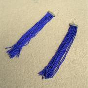 Violet Long Fringe Earrings