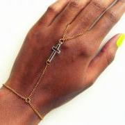 The Silver Cross Panja, Slave bracelet, hand flower