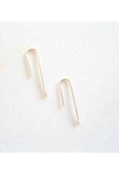 Open Hoop Minimal Earrings