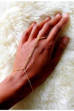 14k Gold Filled Double Ring Bracelet